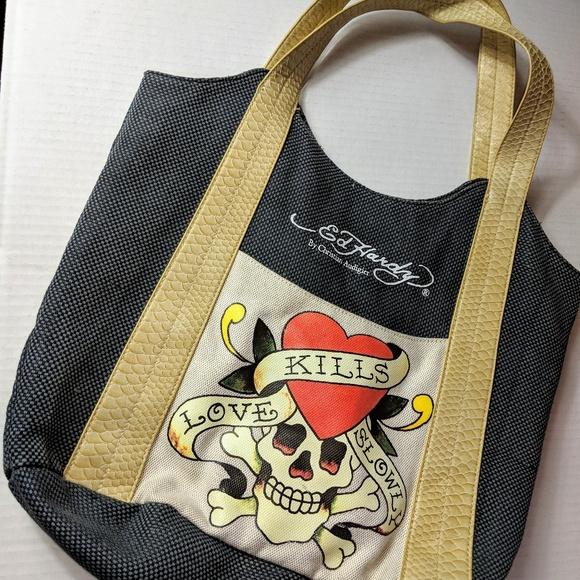 2b69a3639082 Ed Hardy Handbags - ☘ 4 for  24 Ed Hardy Love Kills Slowly Skull Tote